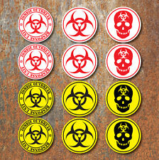 Bio Hazard Warning Zombie Sticker Set Pack biohazard Console Laptop ipad Decals