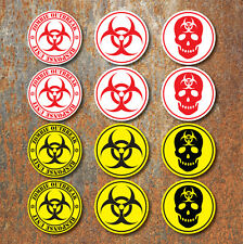 Bio hazard warning zombie sticker set pack biohazard console ordinateur portable ipad decals