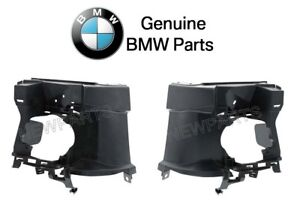 For BMW F30 F31 3-Series Pair Set of 2 Front Support Brackets-Fog Light Genuine