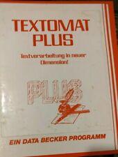 Textomat Plus (Data Becker) c64 disquete (disquete + manual) 100% aceptar Good cond