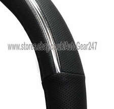 Dotted Black Chrome Insert Comfort Soft Touch Steering Wheel Cover Glove