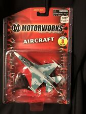 MOTORWORKS AIRCRAFT F-16 Fighting Falcon Diecast Collectible w/ stand Maisto NIP
