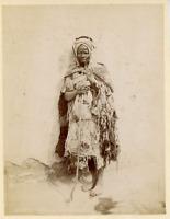 Algérie, Vieux mendiant  Vintage albumen print.  Tirage albuminé  13x17  C