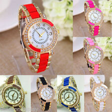 FL 1PCs New Fashion Golden Diamante Quartz DIY Bracelet Watch For Women