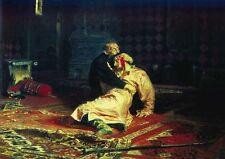 Ilya Repin Ivan The Terrible And His Son A4 Print