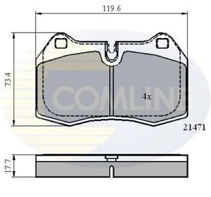 COMLINE Bremsbelagsatz, Scheibenbremse CBP01097 für BMW FERRARI HONDA MASERATI