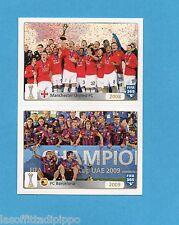 FIFA 365/2016-PANINI ITA-Figurina n.21/22- MANCHESTER UTD 08+BARCELLONA 09-NEW