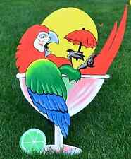 lawn art Jimmy Buffitt garden decorations margaritaville margarita umbrella