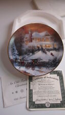Thomas Kincade All Friends Are Welcome Collector Plate 1993 Art Decor 5113 C 1st