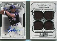 2015 TOPPS MUSEUM COLLECTION PRIMARY PIECES BO JACKSON QUAD RELIC AUTO 2/10