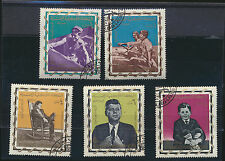 John F Kennedy young and older images 35th US President Set of 5 stamps Yemen