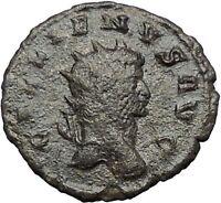 Gallienus son of Valerian I  Ancient Roman Coin Sol Sun God Globe  i54806