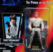 Star Wars POTF2 Luke Skywalker THX Japan Sticker Long Saber Figure MOC Carded