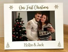 Our First Christmas Photo Frame Personalised Engraved Christmas Photo Frame WF6