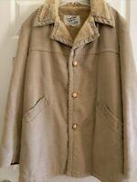 English Squire heavy wide wale corduroy coat jacket tan buffer field barn