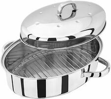 JUDGE 32cm 4.3 litre Stainless Steel High Oval Roaster - 25 Yr Guarantee TC120