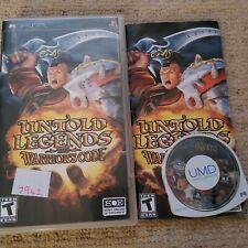 Untold Legends: el código de los guerreros-Raro Sony PSP juego