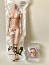 FASHION ROYALTY POPPY PARKER MOOD CHANGERS PURPLE HEAD NUDE DOLL12 INCHES