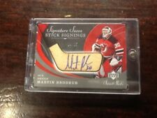 Martin Brodeur 4 Hockey Cards Autograph-Jersey-Stick 14/25 18/24 13/30 06/09