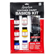 Angelus Leather Paint Basics Kit of Assorted Colors 1 Ounce U-SICS