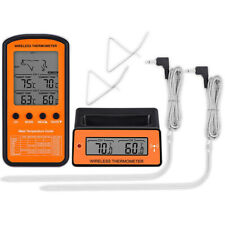 Wireless Digital Food Thermometer 2 Probe Cooking Meat Kitchen Temperature BBQ