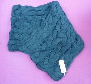 EAST Chunky Cable Knit Teal Snood Winter Alpaca Scarf BNWT XMAS Gift RRP £35.00