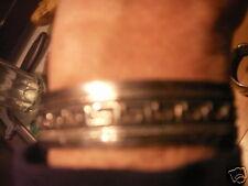 vintage 1000 silver Niello cuff bracelet,Greek key,hand wrought