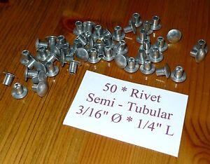 """50 Door Seal Rivets 3/16"""" Ø Semi Tubular Truss Head for Land Rover Series 302818"""