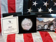 4 COIN 2013 5oz SILVER SATIN A-T-B GREAT BASIN QUARTER WITH 3 pc PROOF/UNC SET