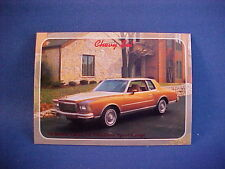 1979 Chevy MONTE CARLO collector card from 20 yr old set--brand new mint 79