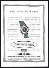 1950's Old Vintage 1957 Smiths Empire Wrist Watch Grimshaws London Print AD