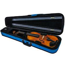 *GREAT GIFT* SKY Lightweight 4/4 Violin Case/Backpack/ Pocket Blue/Black Trims