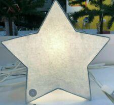 IKEA STRALA Lampe Dekoleuchte aus Papier Tischlampe Dekolampen Stern Weiß 30cm