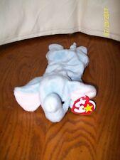 Ty Beanie Baby Peanut Elephant Style 4062 Plush Blue 1995 With Tag