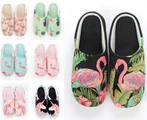 Women Autumn Winter Flamingo Non-Slip Soft Memory Foam Home Indoor Slippers