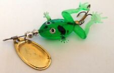 In-Line Spinner Bait Green / Black Spotted Glass Frog