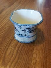 decorative piece/q tip holder blue and white