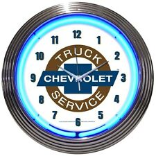 New Chevrolet Truck Service bowtie neon clock  100 + car auto clocks available