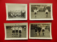 4 x altes FOTO 7 x 10 cm vom Fussball WSV Schwarz Weiß Wuppertal um 1936 ( 63885
