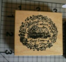PSX (Personal Stamp Exchange) Home is Where they Love you Wood & Rubber stamp