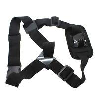 Black Single Shoulder Strap Mount Chest Harness Belt For GoPro Hero 4/3+/3/2/1