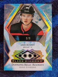 2019-20 Jack Hughes Rookie Black Diamond Sapphire 3/9