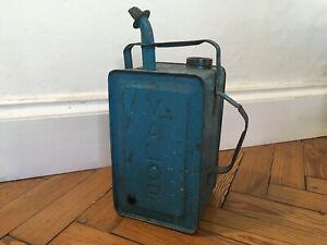 Vintage VALOR paraffin oil can esso blue fuel car 1950's