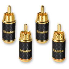 4 x rembus High End cinch conector carbon cinch audio RCA Plug dorado rs-138