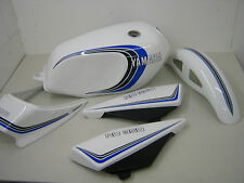YAMAHA RD250LC RD350LC 4LO 4L1 3 STRIPE WHITE PAINTWORK FULL DECAL KIT