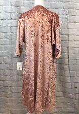 MEDIUM LuLaRoe SHIRLEY ELEGANT VELVET solid dusty rose pink kimono NWT UNICORN M