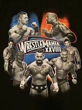 WWE Wrestlemania 28 Youth Large T-Shirt NXT WWF CM Punk The Rock Cena XXVIII WCW