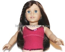 Sequin Trim Rib Berry Tank Top 18 in Doll Clothes Fits American Girl