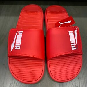 Puma Cool Cat Volt Formstrip High Risk Red Slides Sandals Men's Size 13 New