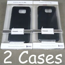 (2) Samsung Galaxy Note 5 Case-Mate Black Tough Stand Cases